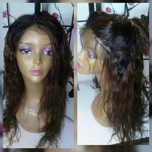 """18"""" wet n wavy lace front human hair wig"""